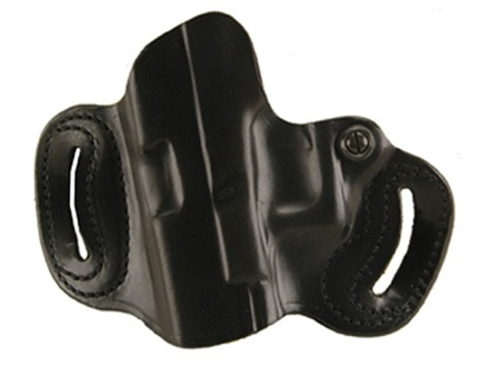 DeSantis Mini Slide Belt Holster Left Hand Glock 17, 19, 22, 23, 26, 27, 31, 32, 33, 36 Leather Black
