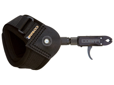 Cobra Pro Caliper Junior Youth Bow Release Velcro Wrist Strap Black
