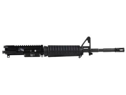 "Del-Ton AR-15 Pistol A3 Flat-Top Upper Assembly 5.56x45mm NATO 1 in 9"" Twist 14.5"" M4 Contour Barrel Chrome Moly Matte with CAR-Style Handguard, Flash Hider"