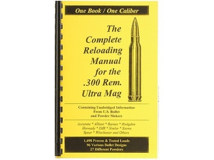 "Loadbooks USA ""300 Remington Ultra Magnum"" Reloading Manual"