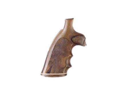 Hogue Fancy Hardwood Grips with Accent Stripe, Finger Grooves and Contrasting Butt Cap S&W J-Frame Square Butt Checkered