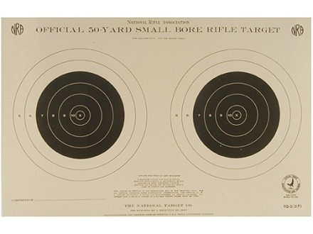 NRA Official Smallbore Rifle Training Target TQ-3/2 50 Yard Paper Package of 100