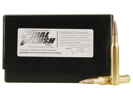Tubb Final Finish Throat Maintenance System TMS Ammunition 270 Winchester Box of 20