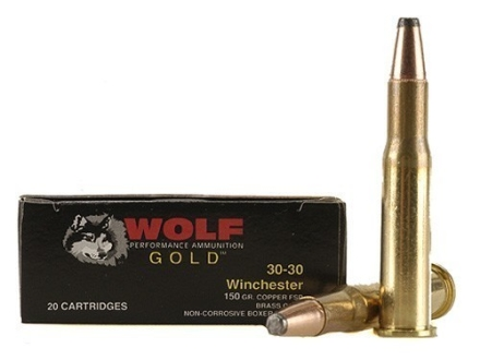 Wolf Gold Ammunition 30-30 Winchester 150 Grain Soft Point Box of 20