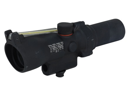 Trijicon ACOG TA45 Rifle Scope 1.5x 24mm Dual-Illuminated Amber Triangle Reticle with AR-15 Carry Handle Base Matte