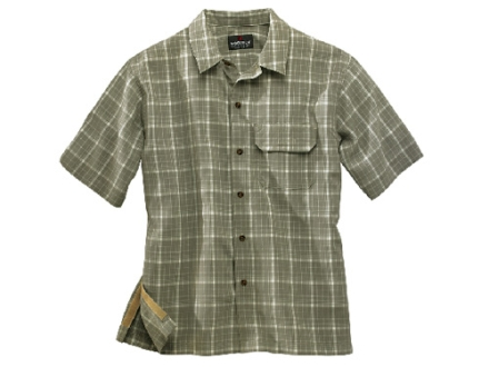 Woolrich Elite Discreet Concealed Carry Short Sleeve Shirt Synthetic Blend Light Olive Large