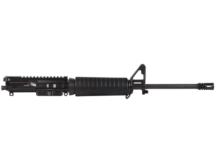 "Del-Ton AR-15 A3 Flat-Top Upper Assembly 5.56x45mm NATO 1 in 9"" Twist 16"" Lightweight Contour Barrel Chrome Moly Matte with CAR-Style Handguard, Flash Hider"