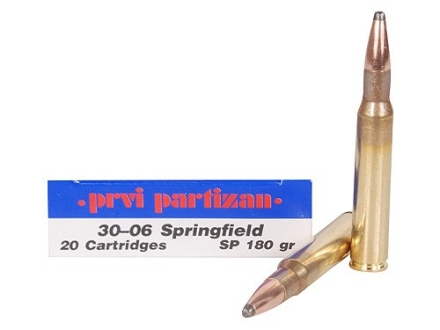 Prvi Partizan Ammunition 30-06 Springfield 180 Grain Soft Point Box of 20