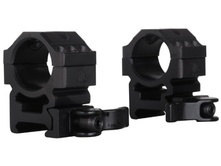 "Leapers UTG 1"" Max Strength Tactical 6-Hole Quick Detachable Picatinny-Style Rings Matte Medium"
