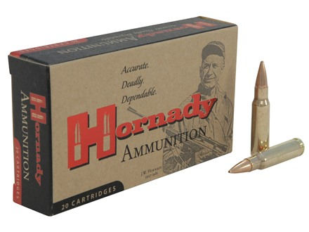 Hornady Custom Ammunition 6.8mm Remington SPC 110 Grain Hollow Point Boat Tail with Cannelure Box of 20