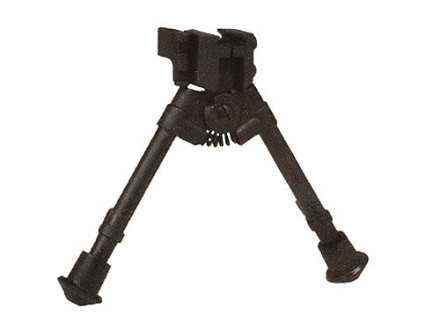 "Versa-Pod Prone Bipod Picatinny Rail Mount 7"" to 9"" Rubber Feet Black"