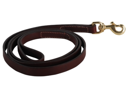 "Remington Latigo Dog Leash 3/4"" x 6' Leather Brown"