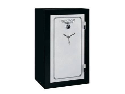 Stack-On Total Defense Fire-Resistant 36-Gun Safe with Combination Lock Matte Black and Silver with Door Storage