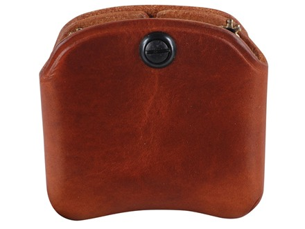 El Paso Saddlery Double Magazine Pouch Single Stack Magazine Leather Russet Brown