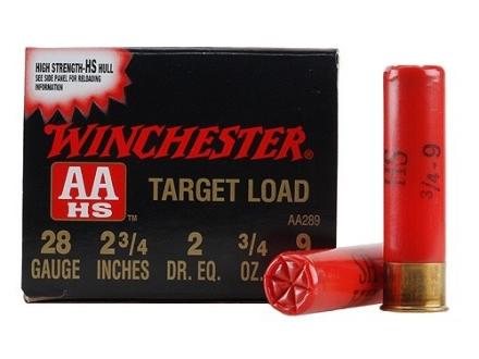"""Winchester AA Target Ammunition 28 Gauge 2-3/4"""" 3/4 oz #9 Shot"""