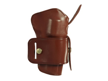"Galco Wheel Gunner Belt Holster Right Hand S&W L Frame 586, 686 Colt Python, King Cobra 4"" Barrel Leather Tan"