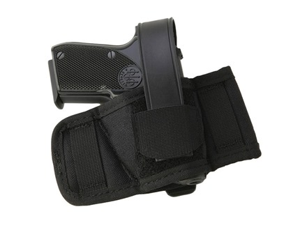 Uncle Mike's Baby Bet Belt Slide Holster Ambidextrous Fits Small Frame Semi-Automatic 22 Caliber, 25 ACP, 32 ACP, 380 ACP Nylon Black