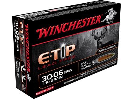 Winchester Supreme Ammunition 30-06 Springfield 150 Grain E-Tip Lead-Free