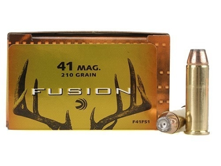 Federal Fusion Ammunition 41 Remington Magnum 210 Grain Jacketed Hollow Point Box of 20