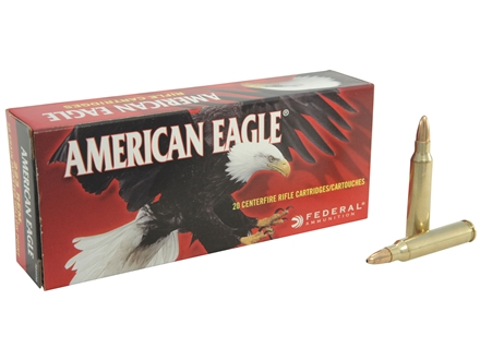 Federal American Eagle Ammunition 223 Remington 50 Grain Jacketed Hollow Point Box of 20