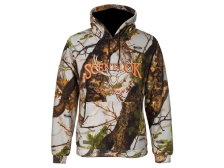 Scent-Lok Men's Logo Hooded Sweatshirt Polyester Vertigo Gray Camo Large 42-44