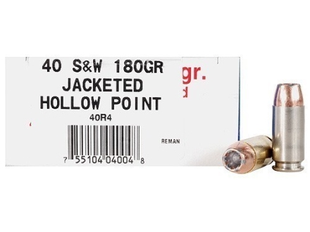 Ultramax Remanufactured Ammunition 40 S&W 180 Grain Jacketed Hollow Point Box of 50