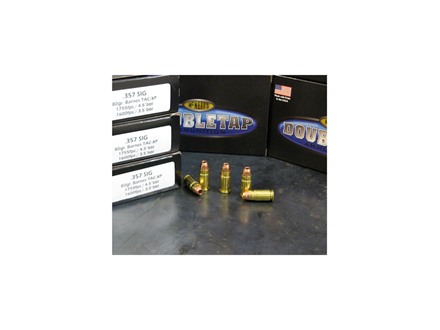 Doubletap Ammunition 357 Sig 80 Grain Barnes TAC-XP Lead Free Box of 20
