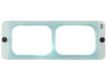 "Donegan Optical OptiVISOR Magnifying Headband Visor Replacement Lens Plate 1-3/4X at 14"""
