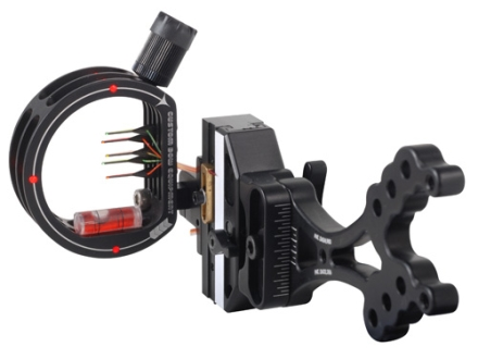 "Custom Bow Equipment Tek-Hybrid 5-Pin Bow Sight .019"" Pin Diameter Right Hand Aluminum Black"