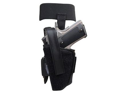 "BlackHawk Ankle Holster Left Hand Medium Semi-Automatic 3"" to 4"" Barrel Nylon Black"