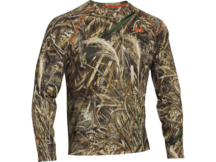 Under Armour Men's EVO Scent Control HeatGear T-Shirt Long Sleeve Polyester Realtree Max-5 Camo XL 46-48