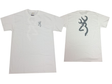 Browning Men's Logo Short Sleeve T-Shirt Cotton White Small