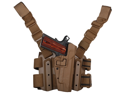 BlackHawk Tactical Serpa Thigh Holster Right Hand 1911 Government Polymer Coyote Tan