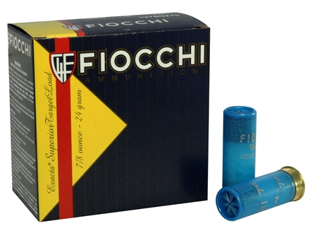 "Fiocchi Exacta Superior Target Trainer Ammunition 12 Gauge 2-3/4"" 7/8 oz #7-1/2 Shot"