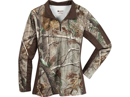 Rocky Women's SilentHunter 1/4 Zip Shirt Long Sleeve Poyester