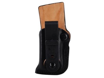 DeSantis Fly High Tuckable Magazine Pouch Glock and HK Double Stack 9, 40 Caliber Magazine Leather Black