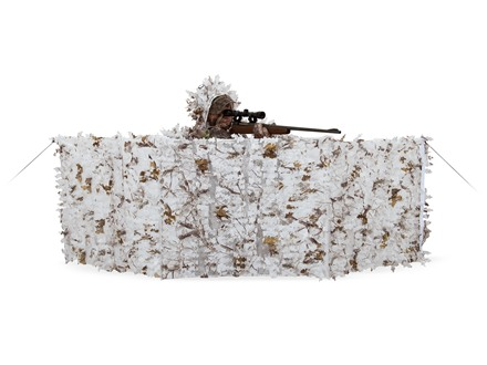 "Ameristep 3-D Edge ReLeaf Spur Ground Blind 27"" x 96"" Polyester Realtree AP Snow Camo"
