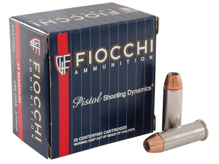 Fiocchi Extrema Ammunition 44 Remington Magnum 240 Grain Hornady XTP Jacketed Hollow Point Box of 25