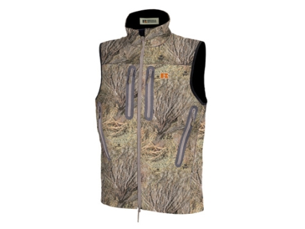 APX Men's L3 Gale Softshell Vest Polyester Mossy Oak Brush Camo Medium 38-40