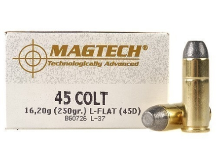 Magtech Cowboy Action Ammunition 45 Colt (Long Colt) 250 Grain Lead Flat Nose