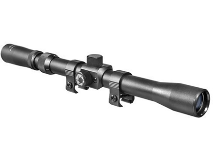"Barska Rimfire Rifle Scope 3-7x 20mm 30-30 Reticle Matte with 3/8"" Dovetail Rings"
