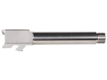 "Lone Wolf Barrel Glock 19 9mm Luger 1 in 16"" Twist 4.60"" Stainless Steel 1/2""-28 Threaded Muzzle"