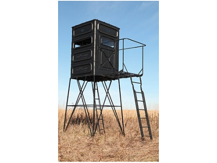 Big Game The Quad Pod Step Out Kit Box Blind Ladder Steel Black