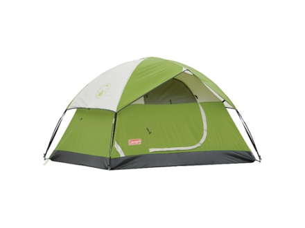 "Coleman Sundome 2 Man Dome Tent 84"" x 60"" x 48"" Polyester Green, White and Gray"