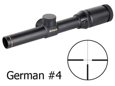 Nikon Monarch African Series Rifle Scope 1-4x 20mm German #4 Reticle Matte