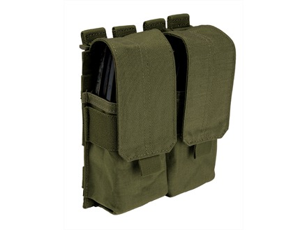 5.11 Stacked Double with Cover AR-15 Magazine Pouch Nylon Tactical Olive Drab