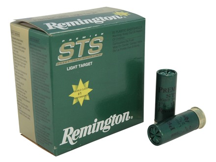 "Remington Premier STS Light Target Ammunition 12 Gauge 2-3/4"" 1-1/8 oz #7-1/2 Shot"