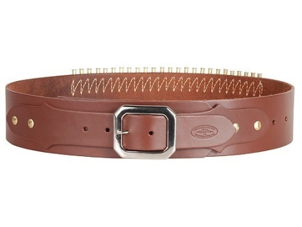 Hunter Adjustable Cartridge Belt 22 Caliber Leather Antique Brown