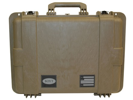 "Boyt H20 Deep Handgun/ Accessory Case with Foam Insert 22"" x 17"" x 10"" Polymer Flat Dark Earth"