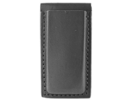 Bianchi 20A Open Magazine Pouch Browning Hi-Power, Ruger P89, P91, Sig Sauer P226, P228, P229 Leather Black